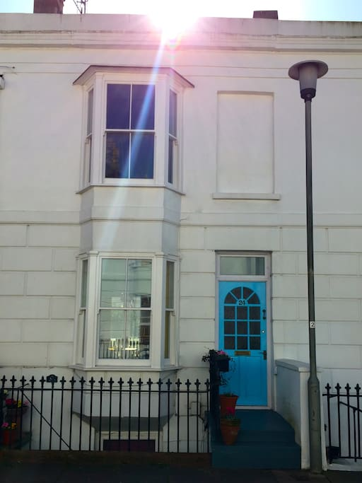 The apartment is the ground & 1st floor of this 1850's Victorian terrace house.