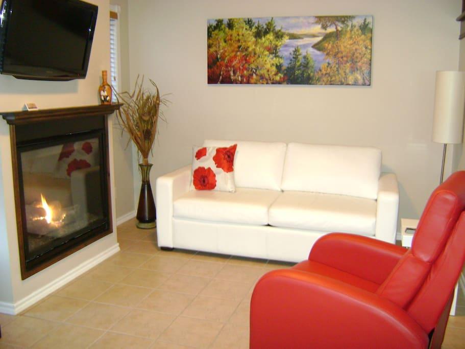 lit confortable foyer propane