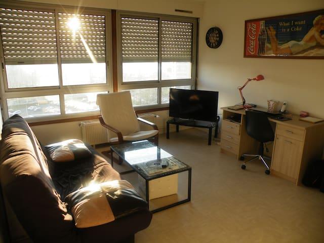 Studio (T 1) confortable et lumineux