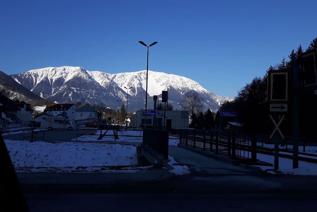 Unser Schneeberg vom Zentrum