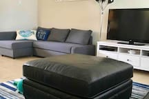 Pull up sofa for 1 adult or 2 children.