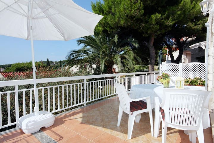 Studio flat with terrace and sea view Sumartin, Brač (AS-4803-a)