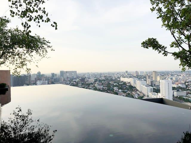 BANGKOK • Luxury Condo TopView wifi • MRT LatPhrao