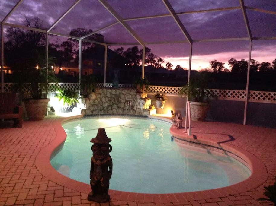 Watch the beautiful sunsets from our patio!