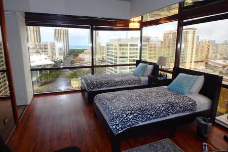 Close to Waikiki and Ala Moana! 2twinbed 1sofa bed - โฮโนลูลู - (ไม่ทราบ)