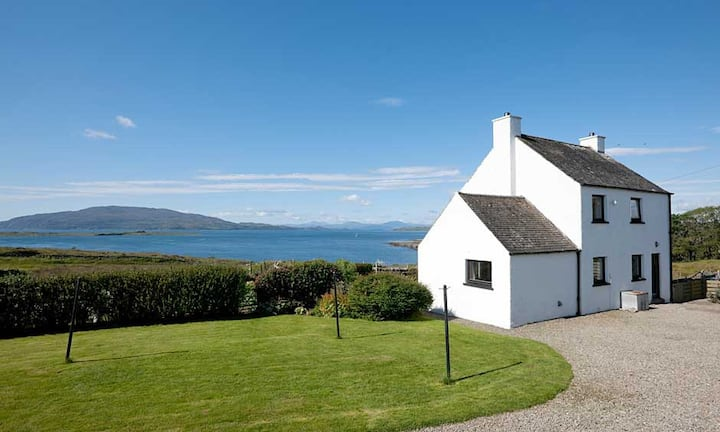 Aird House with stunning sea views to Mull