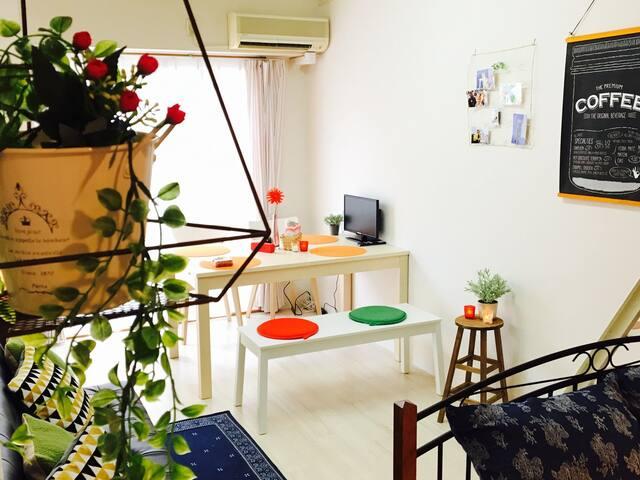 kyoto Save Budget New,reasonable,big apt Free WIFI - 京都市上京区 - Apartment