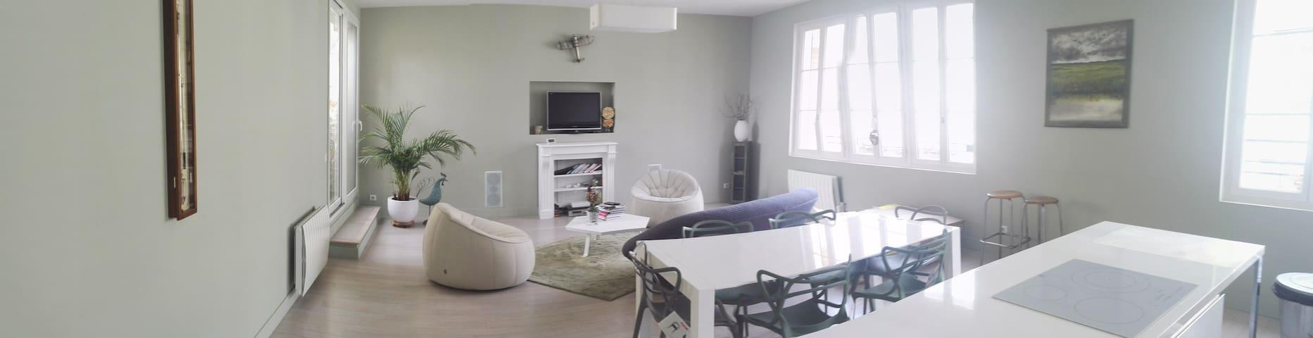Appartement calme et spacieux Centre Ville - Mantes-la-Jolie - Appartement