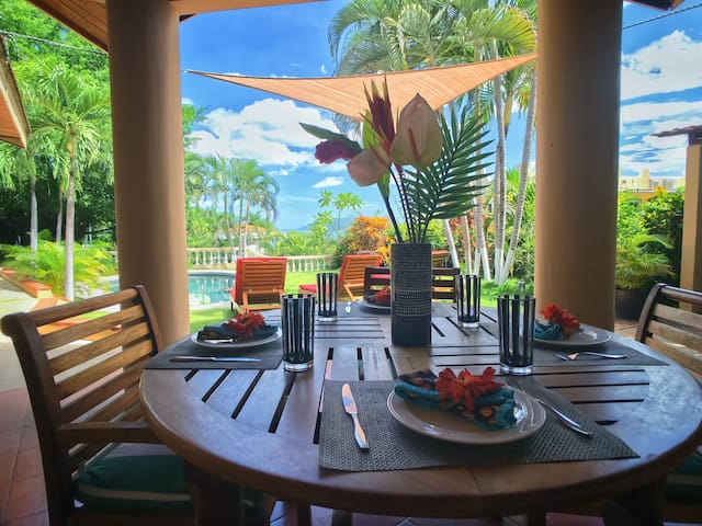Take a breakfast in the garden with beautiful view