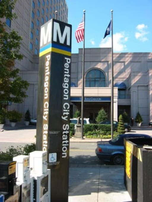 Only 2 blocks to the Pentagon City metro!