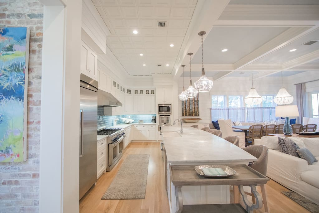Chef's delight this gourmet kitchen features all Thermador stainless-steel appliances