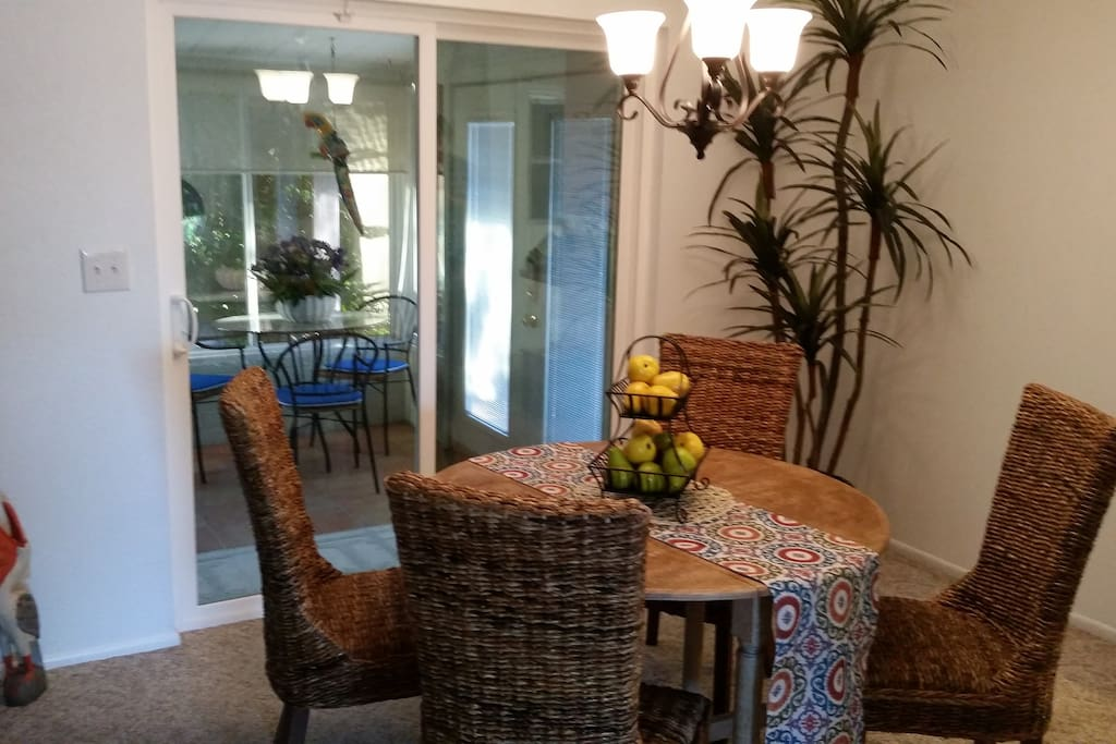 Dining area from living room archway