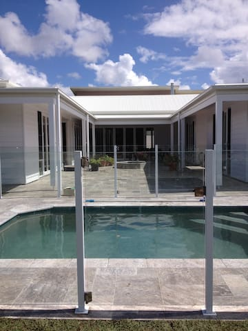 Swimming pool completes the courtyard