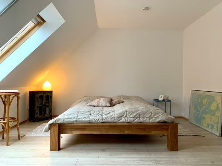 Schöne Wohnung über zwei Etagen am Waldesrand