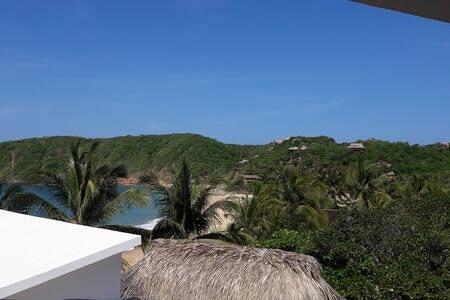 Habitación privada, vista al mar, Posada Ziga 3 - Oaxaca