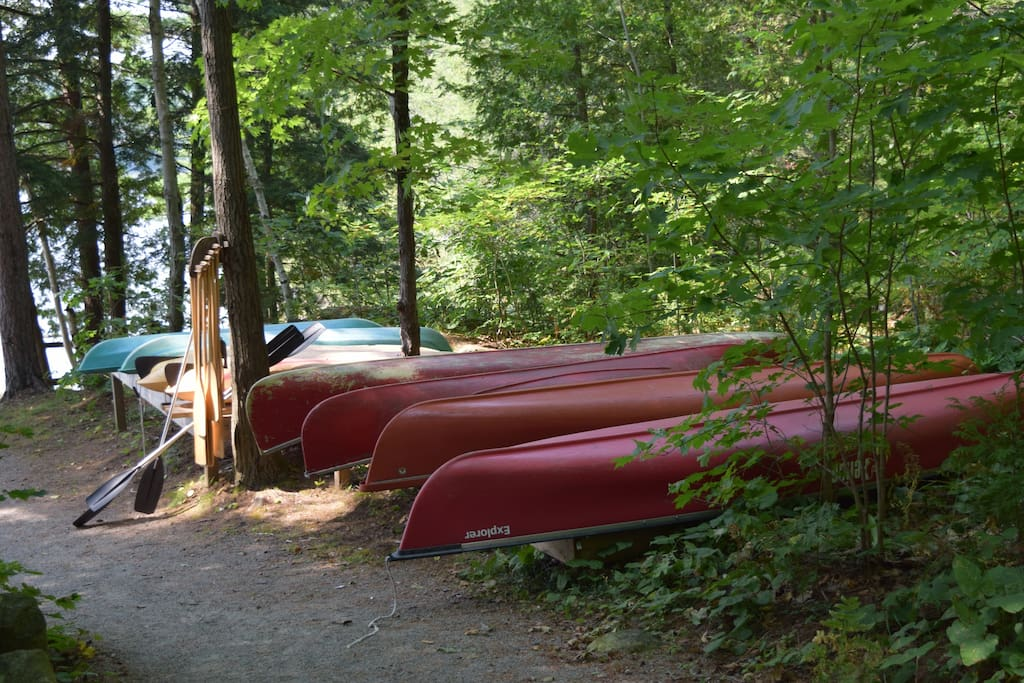 complimentary canoes and kayaks