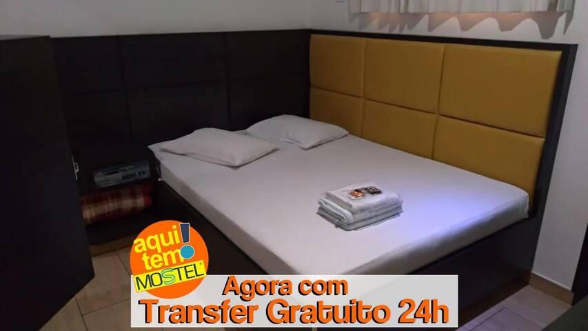 QUARTO COM SERVIÇOS DE HOTEL PARA 2 PESSOAS COM PADRÃO DE QUALIDADE MOSTEL A 20 MIN DO AEROPORTO GRU