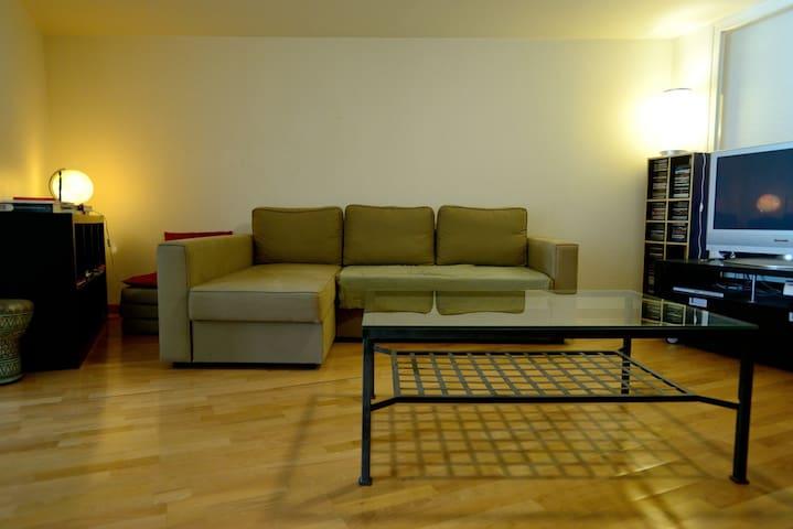 Le coin salon pour partager des moments de convivialité et de détente.