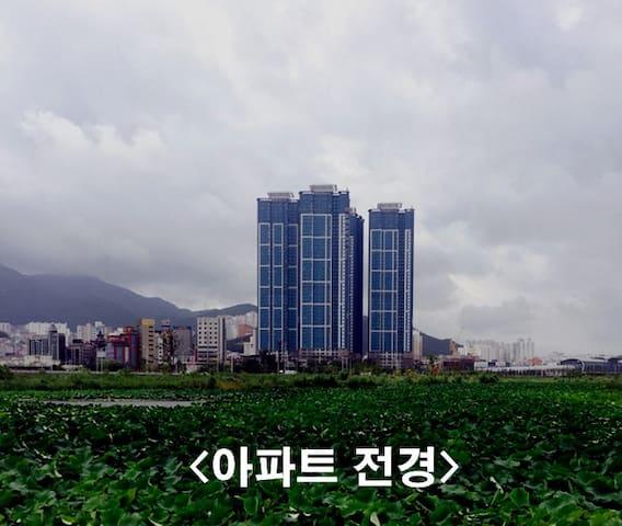 43층, 멋진 낙동강변 뷰, 안락한 Sunny Room - Buk-gu - Apartamento