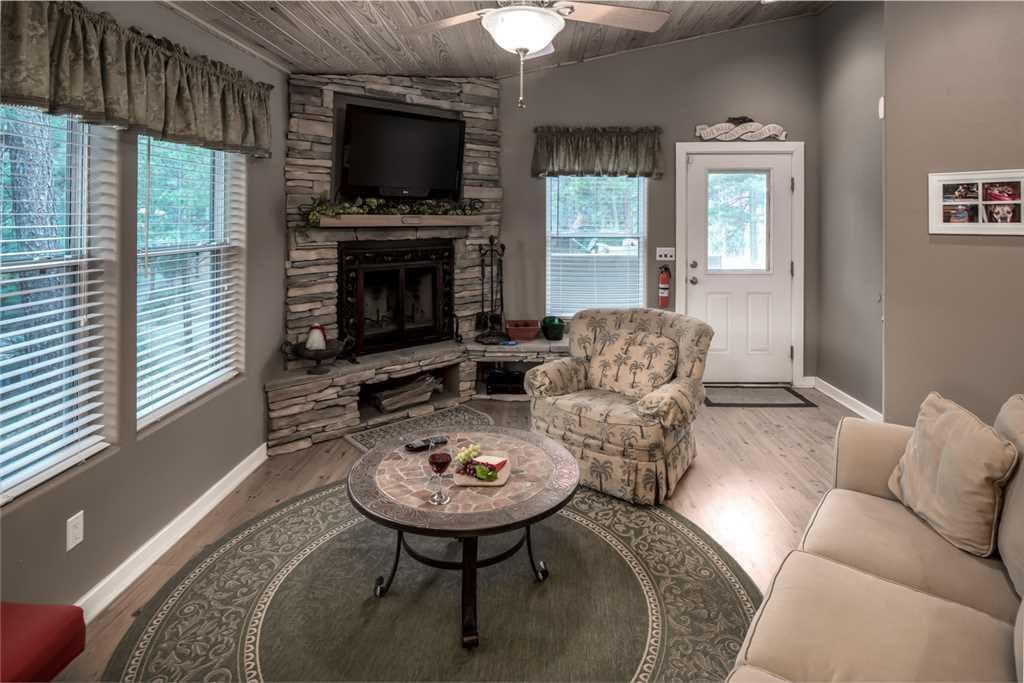 Gather the group for a bowl of popcorn while you watch a favorite show on the large flat-screen TV. The couches are so comfortabl