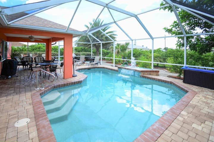 3br w screened lanai heated pool houses for rent in for Pool lanai cost