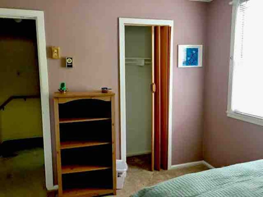 closet and door view for the bedroom