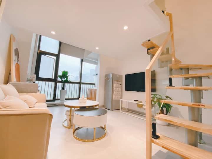 艾诗·House|市中心日式简约LOTF公寓 |五一广场 IFS国金中心 九龙仓 乐和城 中山亭