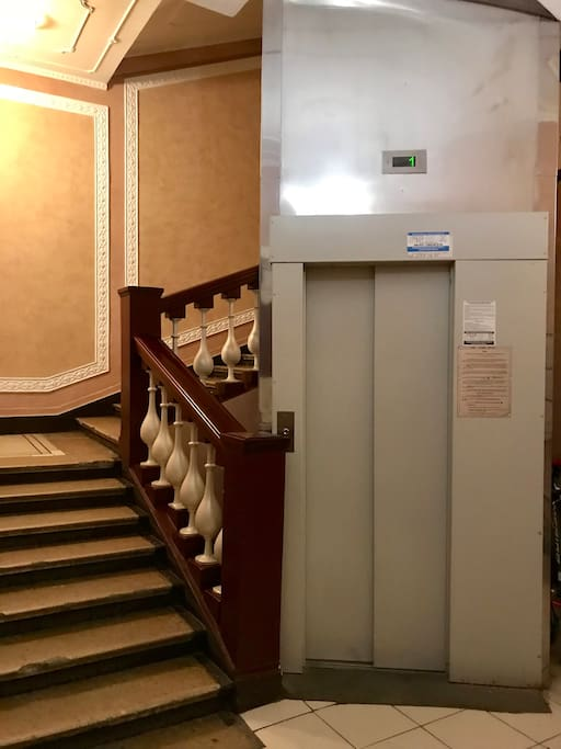 Recently renovated entrance with Venetian plaster on the walls and concierge service.