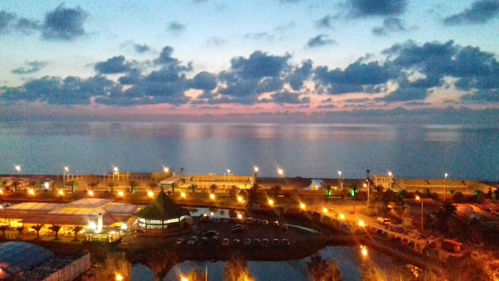 Вид на море с 24 этажа