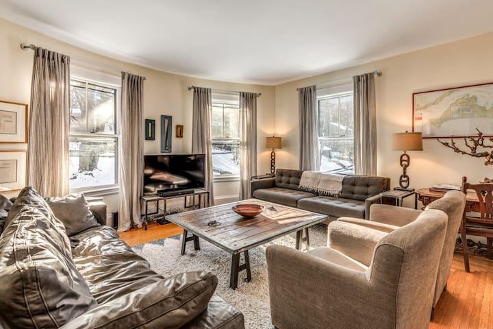 Enormous yet cozy living room