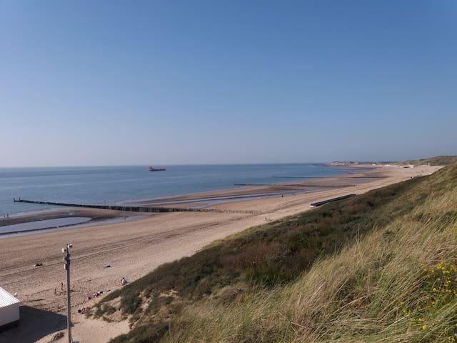Strand richting Zoutelande