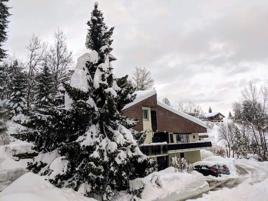 Front of Chalet Winter