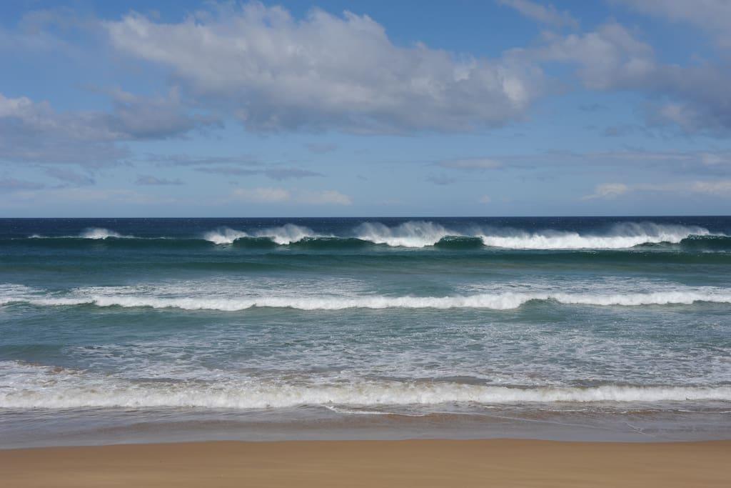 Surf beach just minutes away