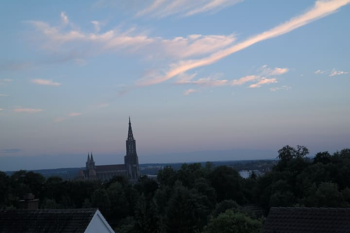 Homey all-equipped penthouse flat with great views - Ulm - Apartamento