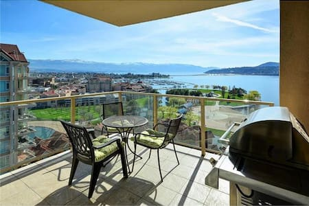 Downtown Gorgeous Okanagan Lakeview 2BR Condo - Kelowna - Appartement
