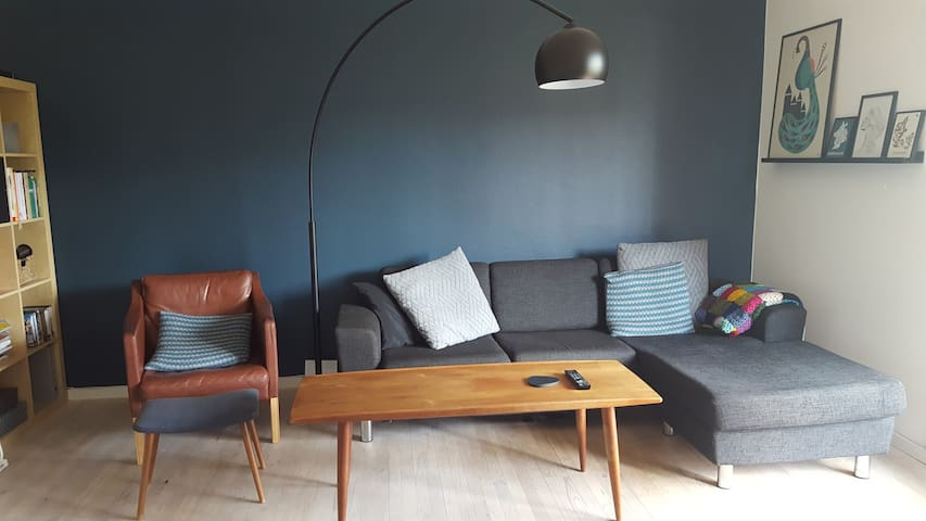 Sunny, cosy appartment with balcony - Roskilde - Apartamento