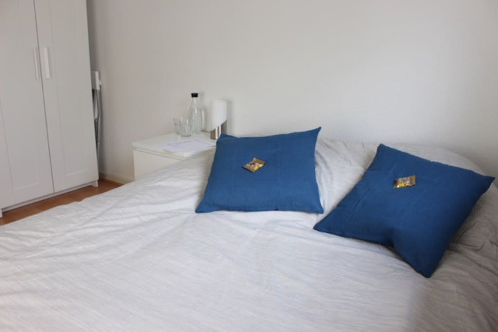 bed and warder, including coat hanger with plenty of storage room (private bedroom)