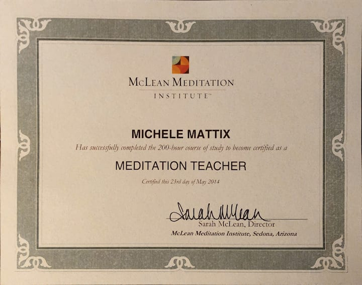Certified meditation teacher since 2014.