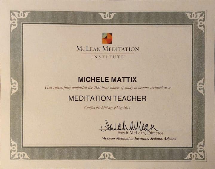 Certified meditation teacher since 2014.