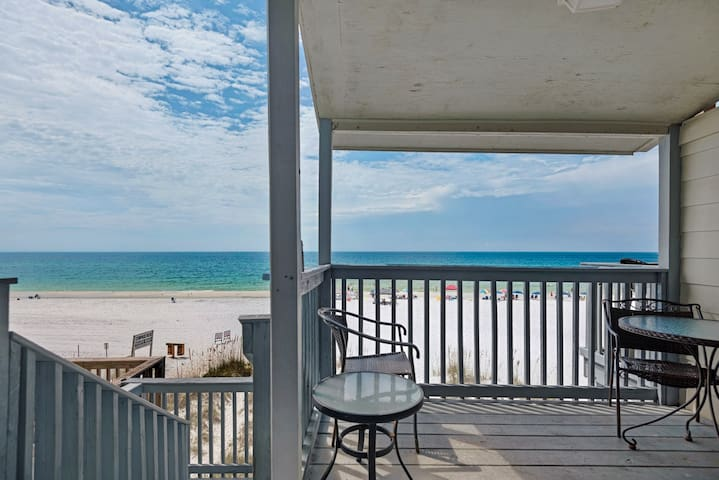3 story private beachfront townhome. Amazing views