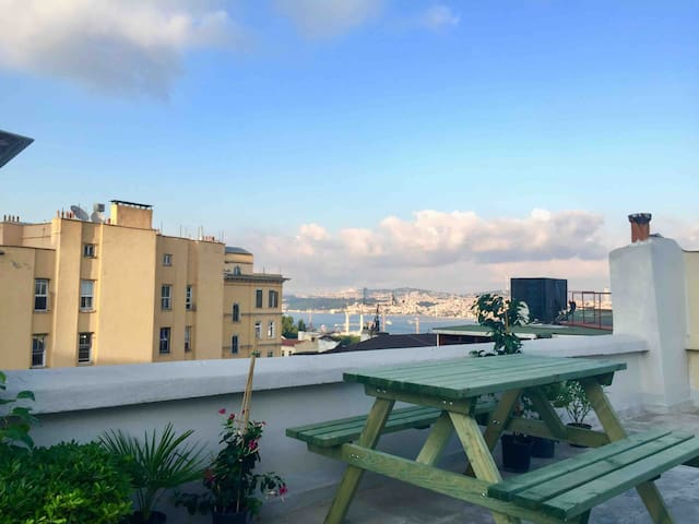 Smooth&Peaceful flat with rooftop view at Galata