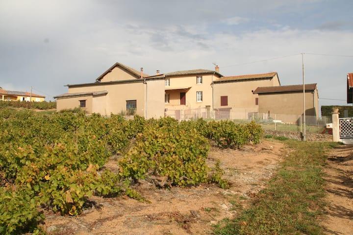 Maison viticole au calme avec vue imprenable
