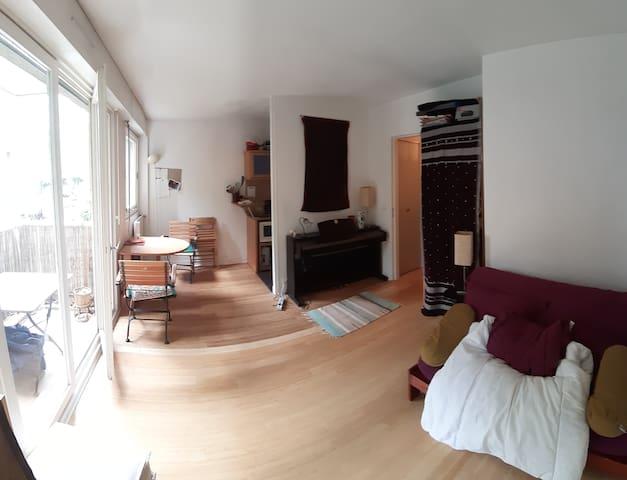 studio avec balcon paris 14ème