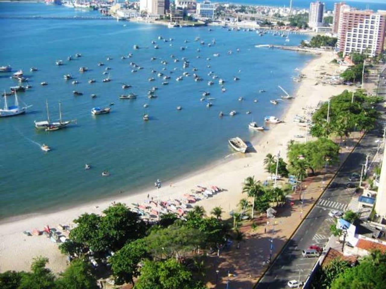 Flat Iracema Residence - Av Beira Mar - Varanda com vista Mar