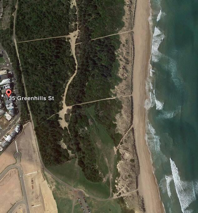 Opposite beach