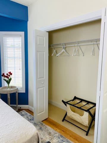 Upper-Level Bedroom 1 Closet and Luggage Rack