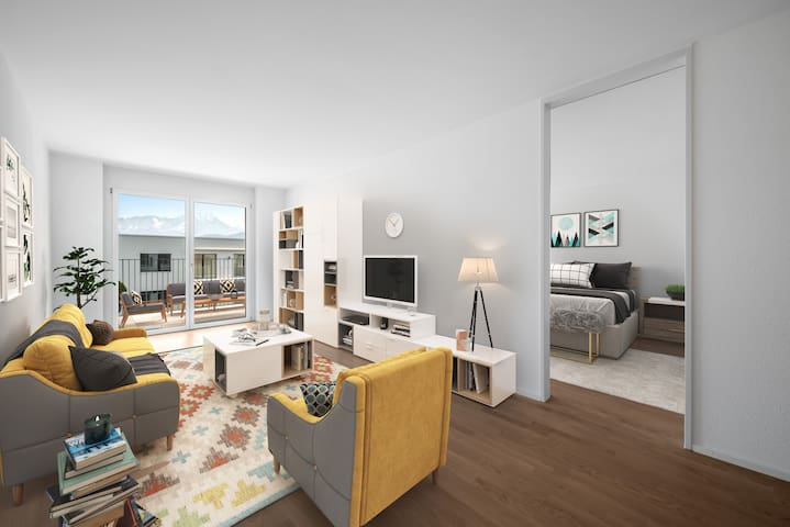 Brand new, luxery furnished apartment in Lucerne