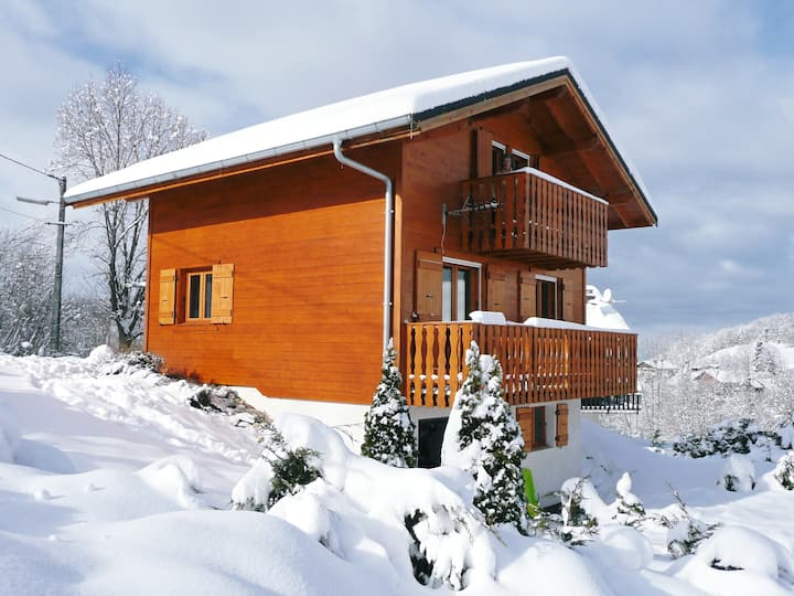 Traditional Alpine Chalet near Lake Geneva