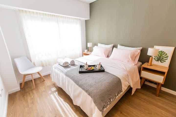 1 doble OR 2 single beds option