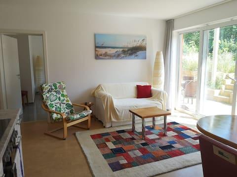 Ruhige 2 Zimmerwohnung mit Terasse und Sauna
